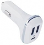 New design protable dual 2USB+type-C car charger 5V 2.1A 5V 1A for mobile phone